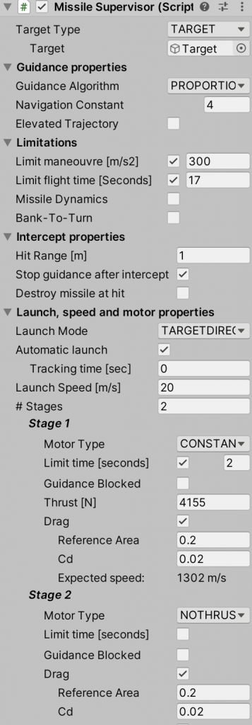 Introduction to Controlled Flight - Stinger Model in Missile Supervisor